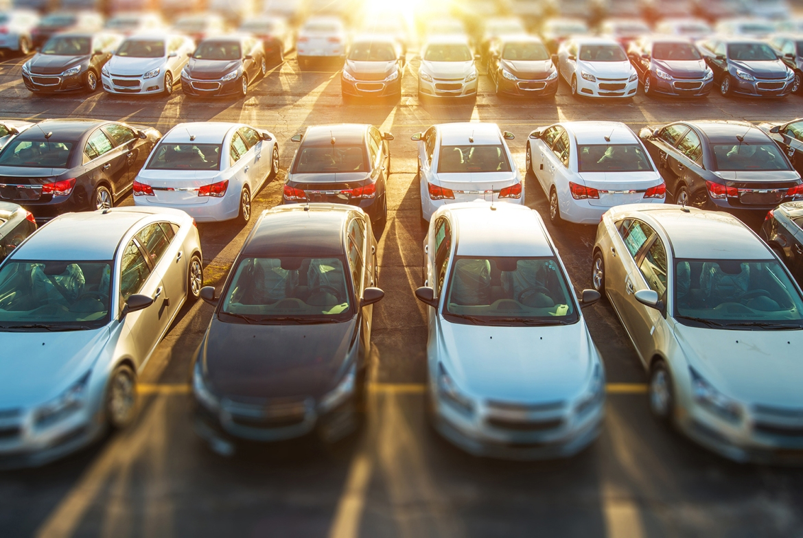 image of aged used inventory vehicles on dealership lot