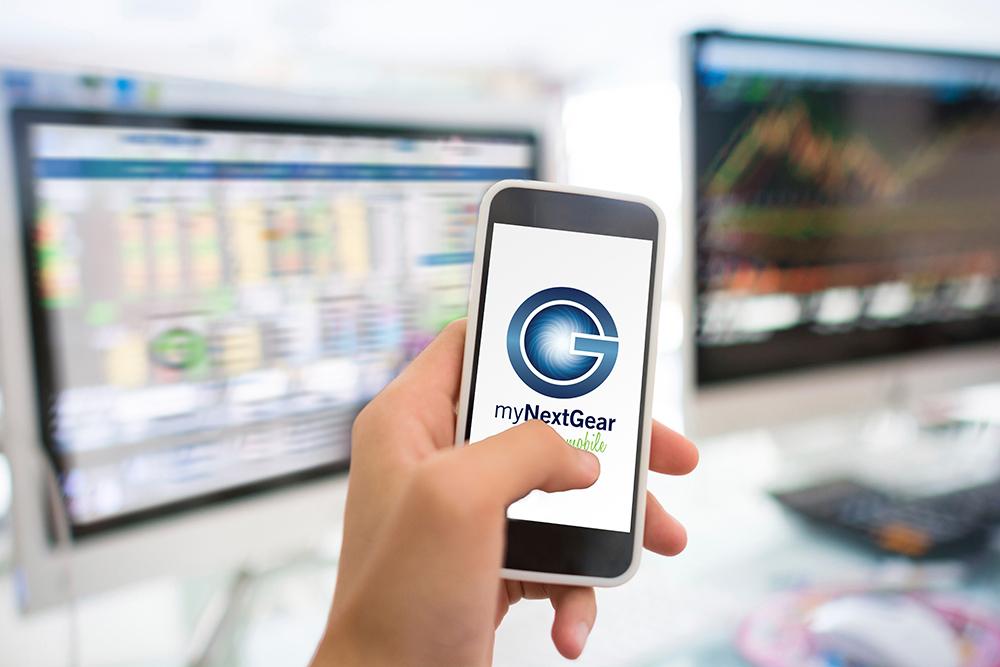 Image of myNextGear floor plan software on phone