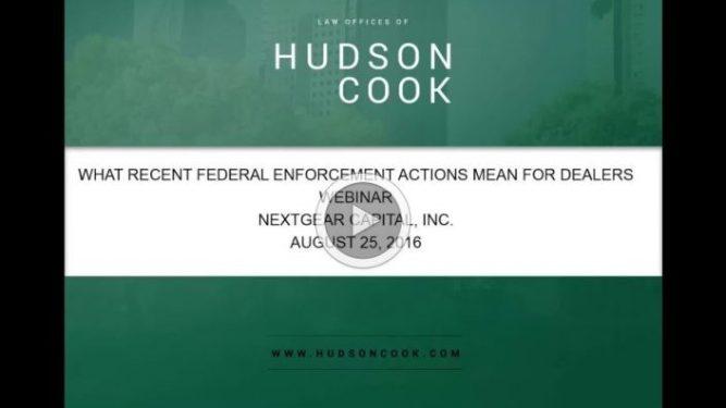 FTC & CFPB requirements in dealer advertising tom hudson webinar.