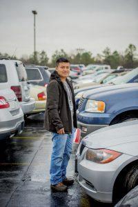 Dealer using a car dealership floor plan
