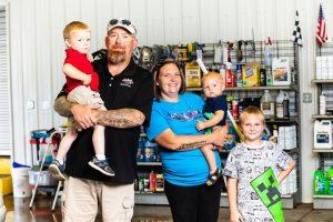 Chris Tingler and his family
