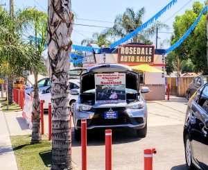 A sanitized car at Rosedale Auto Sales