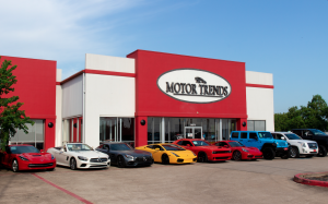 The front of the dealership, Motor Trends